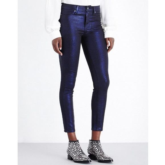 377d4243750df PAIGE Jeans | Hoxton High Rise Blue Shimmer Jean | Poshmark